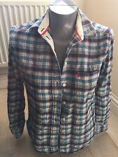 Authentic Jack Wills Boyfriend Fit Ladies UK 8 Check Long Sleeve Top 100% Cotton