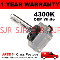 D3S WHITE XENON HID LIGHT BULB MAIN HIGH BEAM 4300K 35W FACTORY OEM FITTED 3