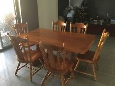Rectangular Colonial Dining Furniture Sets with 7 Pieces
