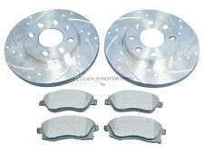 VAUXHALL CORSA C 1.2 16V SXi FRONT 2 DRILLED GROOVED BRAKE DISCS AND MINTEX PADS