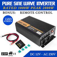 1000W/2000W power Inverter 12V a 230V Onda Sinusoidale Pura Convertitore
