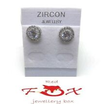 8mm S925 Sterling Silver With 5mm Large Cubic Zirconia Stone Stud Earrings