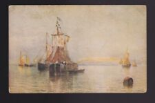 """""""Under Venetian Skies"""" ART POSTCARD shows sailboats on the water"""