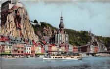 Belgium Dinant Citadelle Collegiale et bateau-mouche Citadel plezierboot