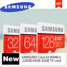 Samsung EVO+ 32GB 64GB 128GB TF Flash MicroSD Memory Card C10 UHS-I With Adapter