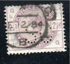 New listing Great Britain Stamps Used Perfin Lot 475