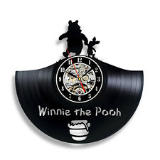 Winnie the Pooh Honey Art Vinyl Record Clock Wall Decor Home Design Room