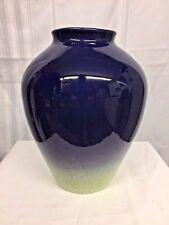 Vintage 1983 Fm Franklin Mint Artist Diane Love Vase Porcelain Blue Green Decor