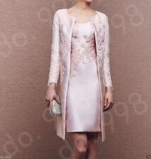 2017 Elegant Tea Length Mother Of The Bride Dress 2017  With Long Jacket Custom