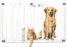 Pet Gate Indoor Wide Dog Fence Baby Barrier Adjustable Walk Thru Swinging Door