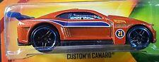 Hot Wheels 2015 Father's Day Custom '11 Camaro Orange Racing 2011 Chevy 1:64