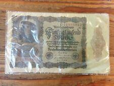 Germany 50000 Mark 1922 Reichsbanknote  Bank Note German