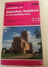 1990 Landranger Ordnance Survey Map 186 Aldershot, Guildford And Surrounding