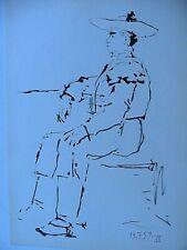 Picasso Toros Y Toreros 1961 B&W Paint Lithograph Print Matador Limited Edition