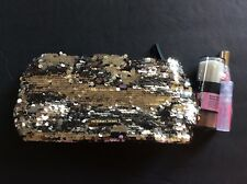 New Victoria's Secret Gold Sequins clutch Heavenly shimmering powder Lip Gloss