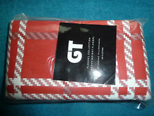 TWO (2) RED & OFF-WHITE DESIGN HW 100% COTTON FLANNEL PILLOWCASES, STD SIZE, NEW
