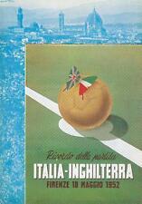 C809) CALCIO, FIRENZE 1952, RICORDO DELLA PARTITA ITALIA INGHILTERRA.