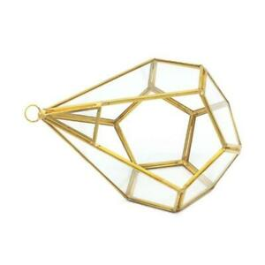 Wall Geometric Terrarium Modern Indoor Opening Polyhedron Pot Containers Decor