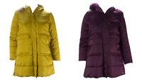 MARINA RINALDI Women's Yellow Paprica Puffer Coat 8W / 17 $445 NWT