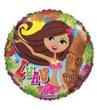 "18"" Aloha LUAU Beach Hula Girl Grass Skirt Flowers Party Balloon"