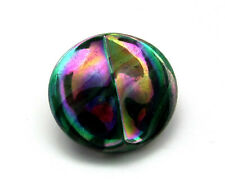 Antique Vintage Iridescent Carnival Depression Glass Rainbow Sewing Button