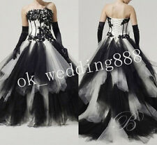 Gothic Evening Dress  Wedding Dresses Bridal Gowns Ball Plus Size Lace-up Custom