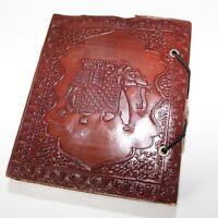 Lederbuch Kladde Notizbuch Tagebuch Motiv Elefant 1 Buch Leder Knopf Indien