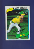 Matt Keough 1980 TOPPS Baseball #134 (MINT) Oakland Athletics