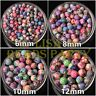 10~50pcs 6~12mm Ball Shape Clay Colorful Loose Spacer Beads Bulk