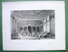 CONSTANTINOPLE Residence of Asme Sulatana - ALLOM 1840s Original Engraving Print