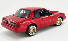 """1990 FORD MUSTANG LX """"STREET FIGHTER"""" RED 1:18 SCALE BY GMP 18955"""