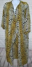 NWT LuLaRoe Swim Cover Up Bold Leopard Print Shirley Kimono size Medium Cheetah