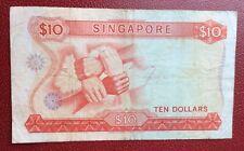 Singapore - Très Joli et Rare billet de 10 $ 1967 - Pick # 3/a - vf=50$