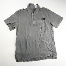 Timberland mens 100%authetnic S/S collared polo shirt size Large gray