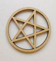 Holz Verschiedene Pentakel Pentagram Formen Laserschnitt MDF - Satanisch Teufel