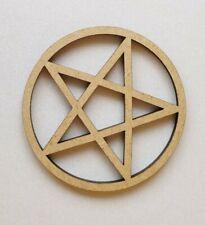 Wood Assorted Pentangle Pentagram shapes Laser Cut MDF - satanic devil