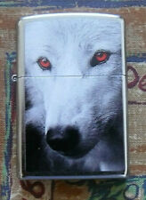 ANIMALS RED EYED WOLF ZIPPO LIGHTER FREE P&P FREE FLINTS