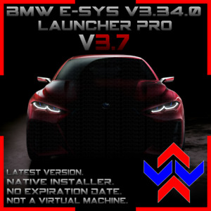 BMW E-SYS v3.34, Launcher PRO v3.7.0, with PSdZData. NATIVE INSTALLER
