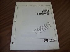 HP 8620C Sweep Oscillator Operating Information.
