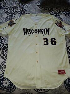 MiLB Wisconsin Timber Rattlers #36 Rawlings Promo Night Baseball Game Jersey 52