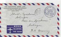 japan airmail  stamps cover  ref 10112