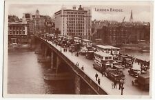 London Bridge RP PPC 1941 PMK, Note News Of The World Ad, & Selection Of Vehicle