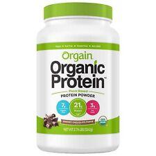 Orgain Organic Plant-Based Protein Powdr,Creamy Chocolate Fudge,2.74 LB exp 2020
