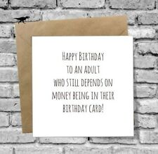GREETINGS CARD HAPPY BIRTHDAY FUNNY BEST FRIEND SISTER SON DAUGHTER BROTHER DAD