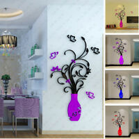 DIY 3D Acrylic Crystal Wall Stickers Living Room Bedroom Home Decor Removable