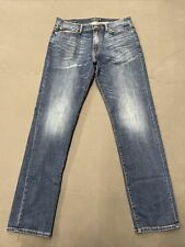 Lucky Brand Men's 221 Original Straight Size 36x34 Blue Jeans FS Benefits Chrty