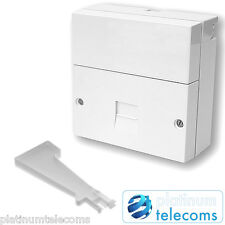 2018 BT Openreach Kauden telephone master socket NTE5A with back box, IDC tool