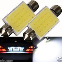2Pcs High Quality 42mm Festoon COB 12 Chips DC 12V LED Car Dome Reading Lights