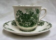 Masons Green Fruit Basket Teacup & Saucer