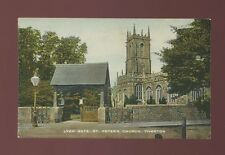 Devon TIVERTON St Peter's Church Lych Gate PPC Tuck Colourtype